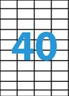 Samolepící etikety A4 52,5x29,7 mm 100ks