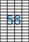 Samolepící etikety A4 52,5x21,2 mm 100ks
