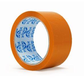 Lepící páska barevná 48x66 mm - oranžová