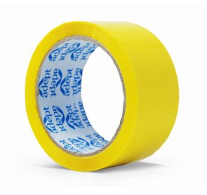 Lepící páska barevná 48x66 mm - žlutá