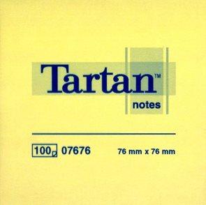 Tartan Samolepící bloček 654 76x76 - žlutý