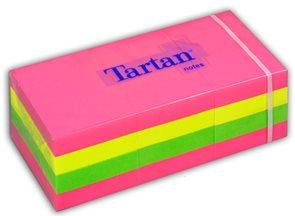 Tartan Samolepící bloček 51x38mm - Rainbow neon