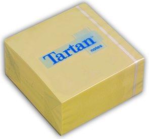 Tartan Samolepící bloček - žlutý