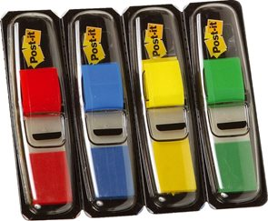 Post-it Záložky  11,9 x 43,2 mm - sada 4 barev