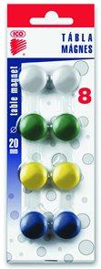 ICO Magnety JY-20/8 ks - mix barev