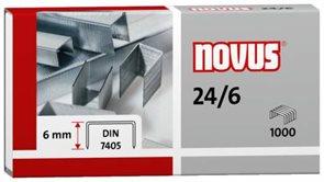 NOVUS Drátky do sešívačky 24/6 - 1000 ks