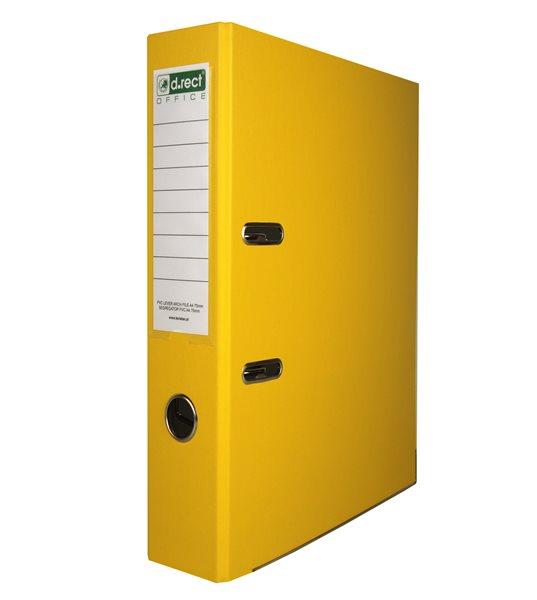 Office Pákový pořadač PVC 5cm - žlutý