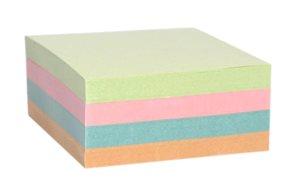 Špalíček nelepený 85x85x40mm - mix barev
