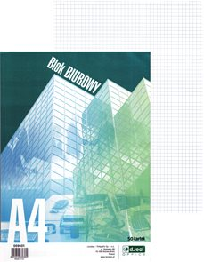 Blok lepený čtverečkovaný A4 - 50 listů