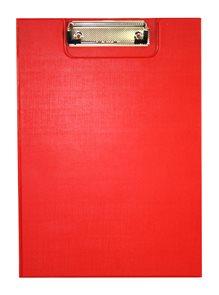 Office Psací podložka s klipem A4 - červená