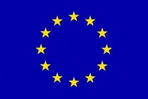 Vlajka EU - prapor, karabiny na zavěšení 60×90