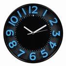 Nástěnné analogové hodiny 3D 30 cm - černomodrá
