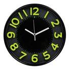 Nástěnné analogové hodiny 3D 30 cm - černozelená