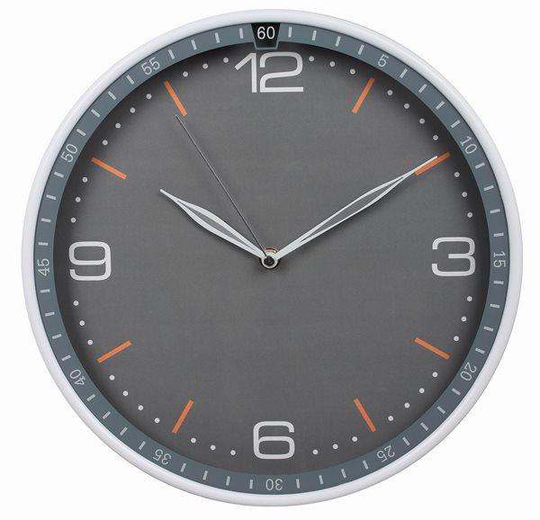 Nástěnné analogové hodiny 30 cm Classic - šedá