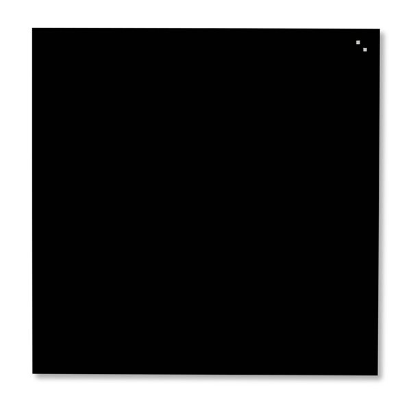 NAGA skleněná magnetická tabule 100 x 100 cm, černá, Doprava zdarma