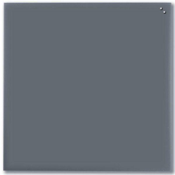 NAGA skleněná magnetická tabule 100 x 100 cm, šedá, Doprava zdarma