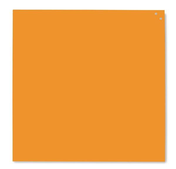 NAGA skleněná magnetická tabule 100 x 100, oranžová, Doprava zdarma