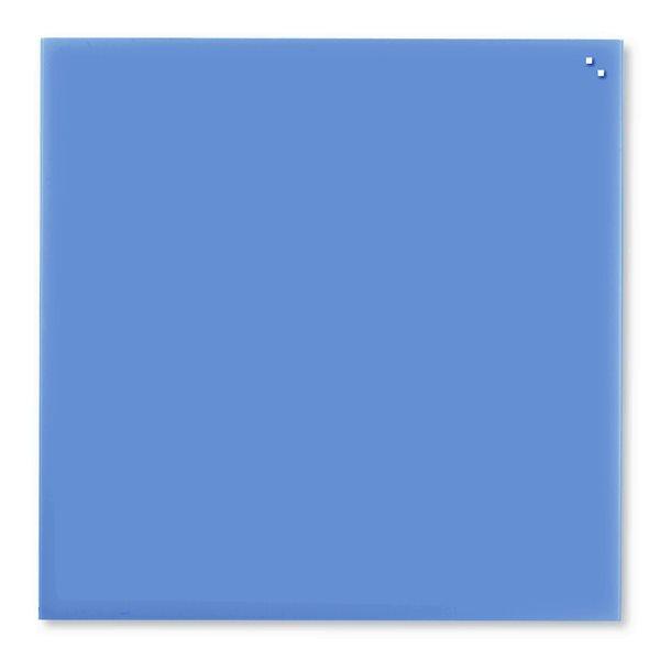 NAGA skleněná magnetická tabule 100 x 100, modrá, Doprava zdarma