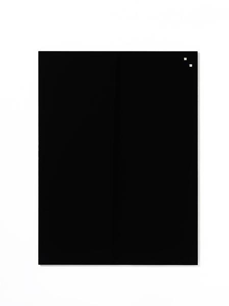 NAGA skleněná magnetická tabule 60 x 80 cm, černá, Doprava zdarma