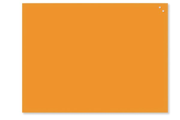NAGA skleněná magnetická tabule 60 x 80 cm, oranžová, Doprava zdarma