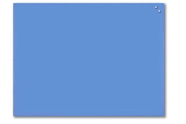 NAGA skleněná magnetická tabule 60 x 80 cm, kobalt. modrá, Doprava zdarma