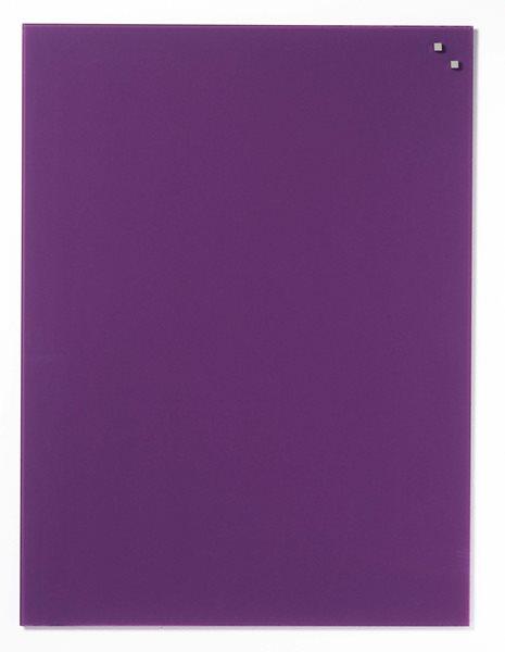 NAGA skleněná magnetická tabule 60 x 80 cm, tm. fialová, Doprava zdarma