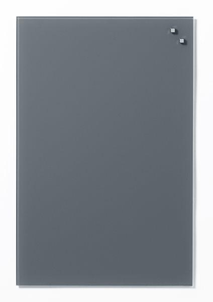 NAGA skleněná magnetická tabule 40 x 60 cm, šedá