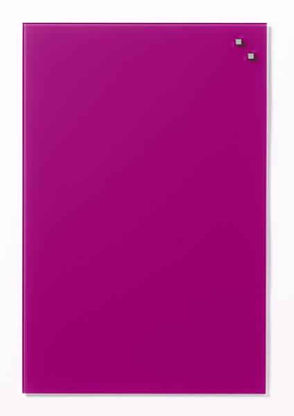 NAGA skleněná magnetická tabule 40 x 60 cm, růžová