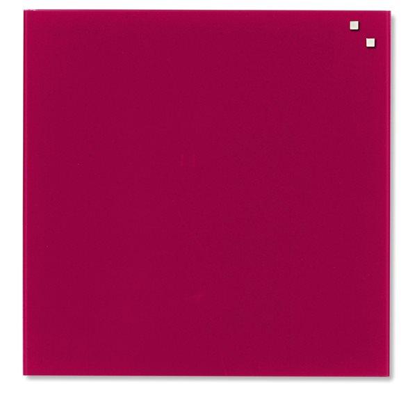 NAGA skleněná magnetická tabule 45 x 45 cm, červená