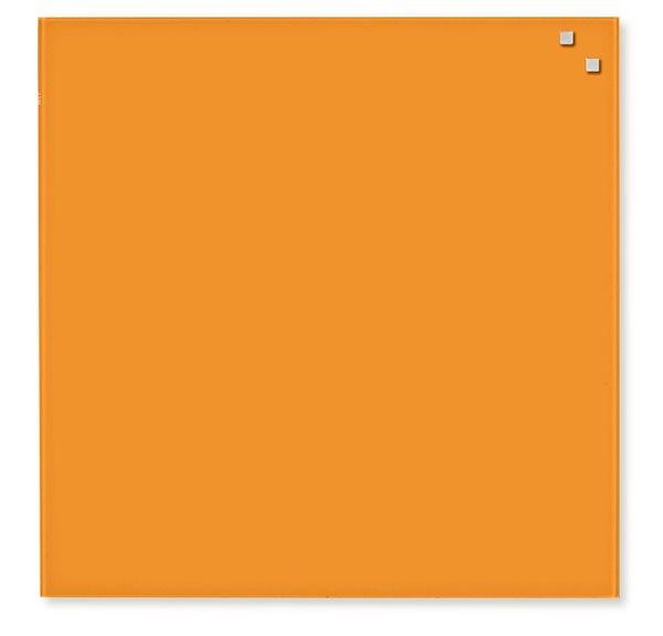 NAGA skleněná magnetická tabule 45 x 45 cm, oranžová