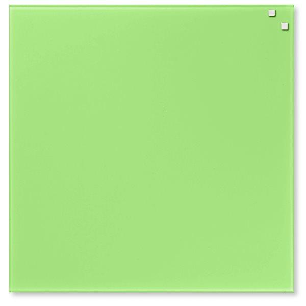 NAGA skleněná magnetická tabule 45 x 45 cm, sv. zelená