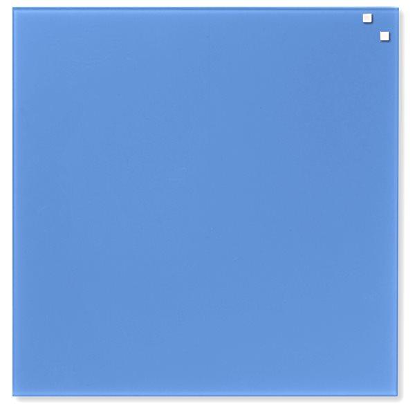 NAGA skleněná magnetická tabule 45 x 45 cm, kobalt. modrá