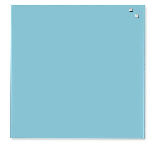 NAGA skleněná magnetická tabule 45 x 45 cm, tyrkysová