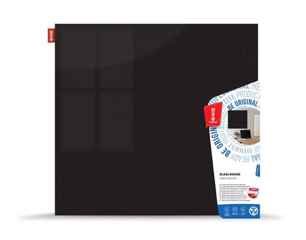 Memoboards Skleněná magnetická tabule 45 × 45 cm, černá