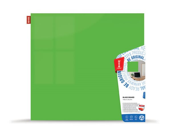 Memoboards Skleněná magnetická tabule 45 × 45 cm, zelená