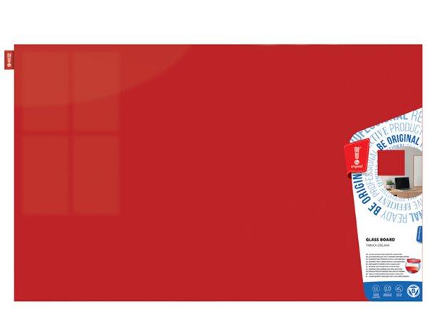 Memoboards Skleněná magnetická tabule 80 × 60 cm, červená
