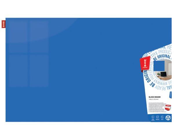 Memoboards Skleněná magnetická tabule 80 × 60 cm, modrá