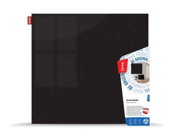 Memoboards Skleněná magnetická tabule 100 × 100 cm, černá