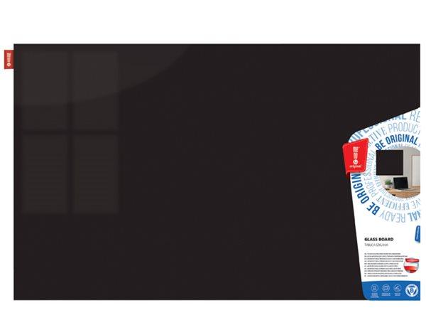 Memoboards Skleněná magnetická tabule 100 × 200 cm, černá