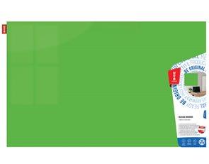 Memoboards Skleněná magnetická tabule 100 × 200 cm, zelená