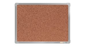 boardOK Korková tabule s hliníkovým rámem 60 × 45 cm, stříbrný rám
