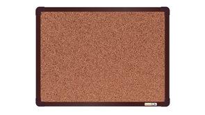 boardOK Korková tabule s hliníkovým rámem 60 × 45 cm, hnědý rám