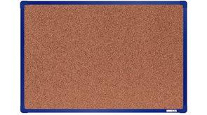 boardOK Korková tabule s hliníkovým rámem 60 × 90 cm, modrý rám
