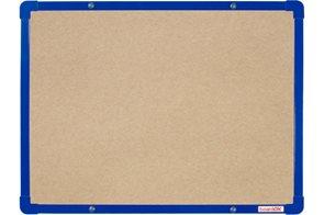BoardOK Tabule s textilním povrchem 60 × 45 cm, modrý rám