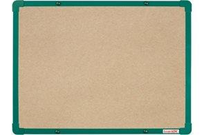 BoardOK Tabule s textilním povrchem 60 × 45 cm, zelený rám