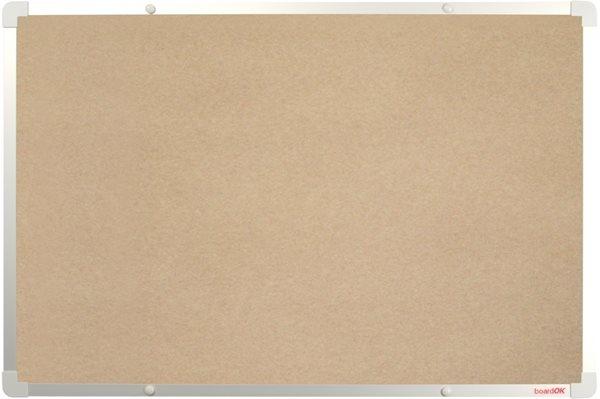 BoardOK Tabule s textilním povrchem 60 × 90 cm, stříbrný rám