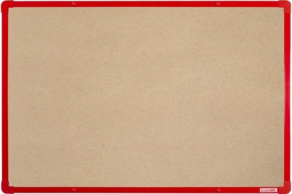 BoardOK Tabule s textilním povrchem 60 × 90 cm, červený rám
