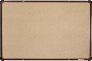 BoardOK Tabule s textilním povrchem 60 × 90 cm, hnědý rám