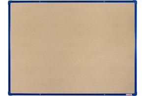 BoardOK Tabule s textilním povrchem 120 × 90 cm, modrý rám