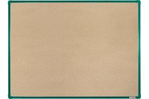 BoardOK Tabule s textilním povrchem 120 × 90 cm, zelený rám
